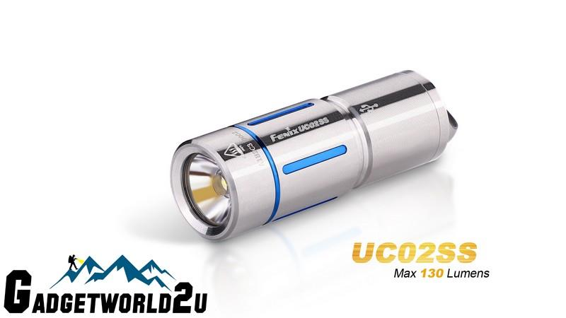 Fenix UC02SS Blue CREE XP-G2 LED USB Rechargeable Keychain