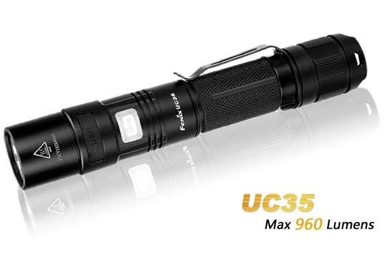 FENIX UC35 Rechargeable CREE XM-L2 U2 LED FLASHLIGHT - Max 960 Lumens