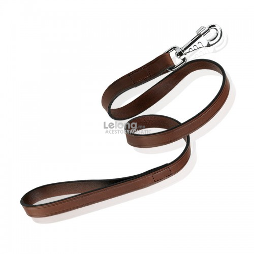 Ferplast Vip Brown Lead In Bull Leather G20/150 20mmx150cm Length