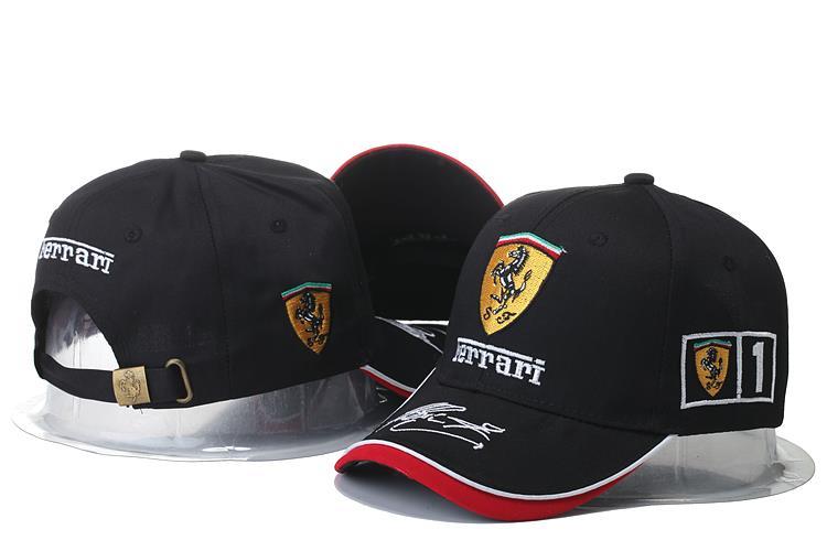 ferrari f1 team wear leather baseball cap 2015 teamwear black