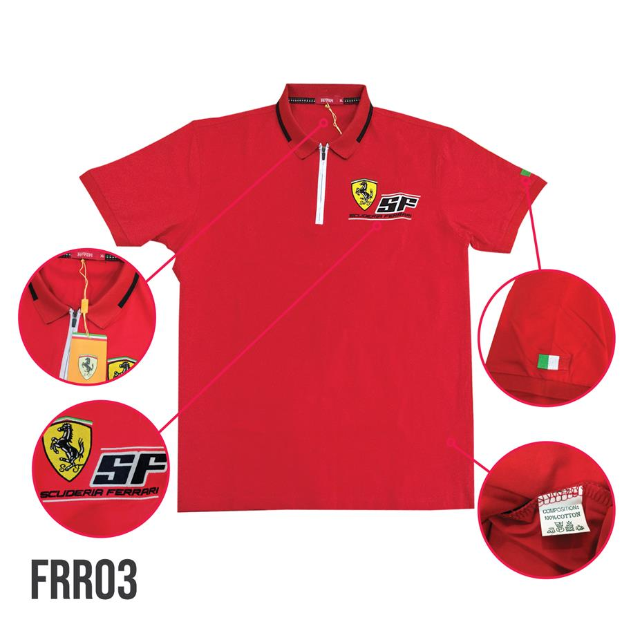 07753302 Ferrari Polo T-shirt FRR03 (end 7/3/2018 4:15 PM)