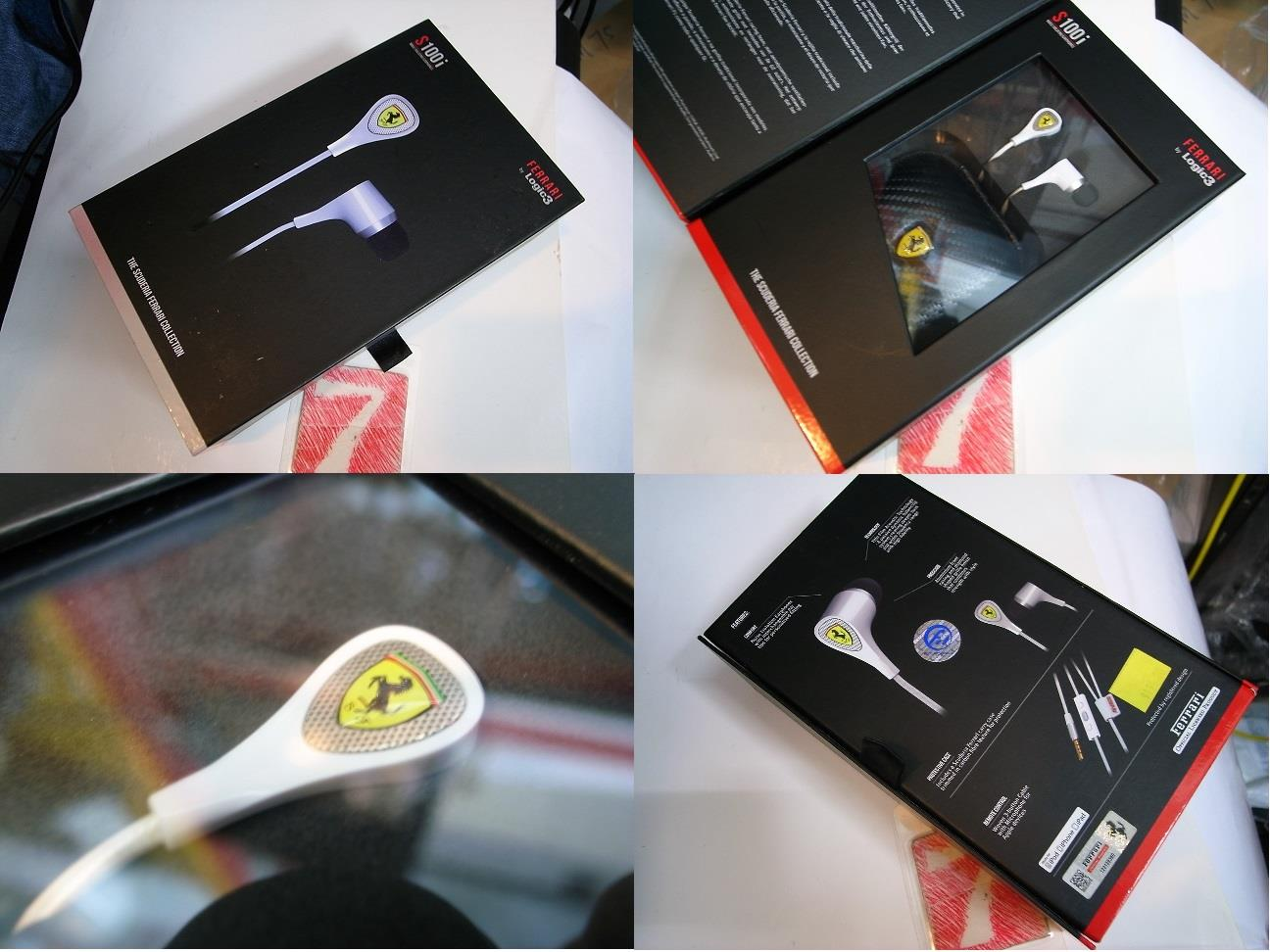 FERRARI S100I  Earphones BY LOGIC3 Rm320
