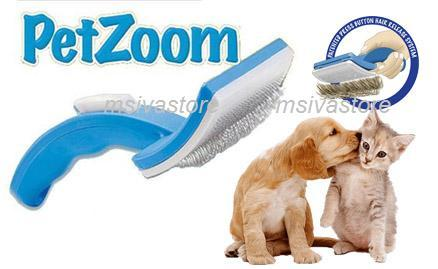 Festive Promo! Pet Zoom~ Self Cleaning Grooming Brush for  Cats & Dogs