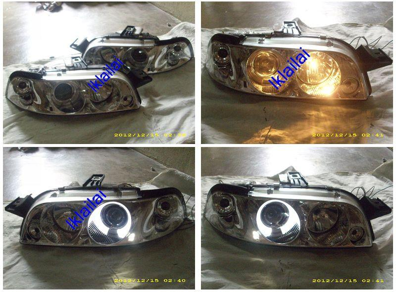 FIAT PUNTO '93-98 Crystal Projector Head Lamp with LED Ring
