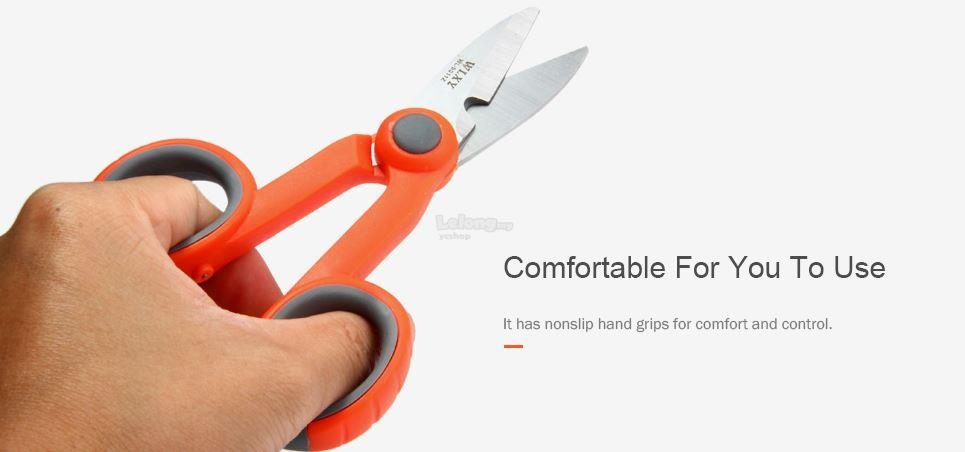 Fiber Cutting Scissors With Sawtooth Stainless Steel (S217)
