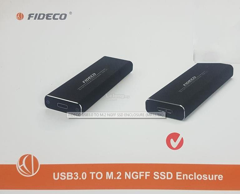 FIDECO ENCLOSURE M2 SSD TO USB3.0 (MR137BK)