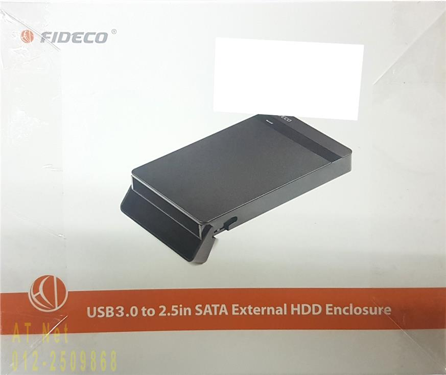 FIDECO USB3.0 2.5 INCH SATA EXT HDD ENCLOSURE MR148