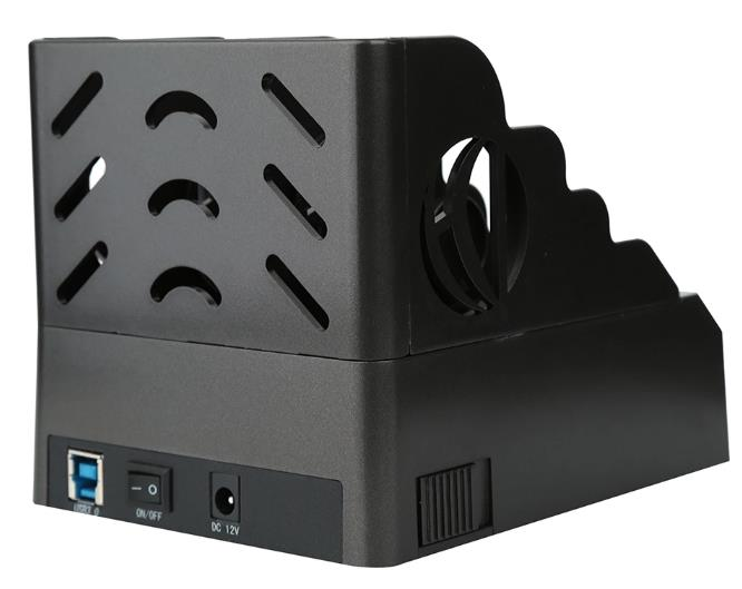 FIDECO USB3.0 FOR HDD 3-BAYS DOCKING(2SATA+1IDE) (MR155BK) BLK