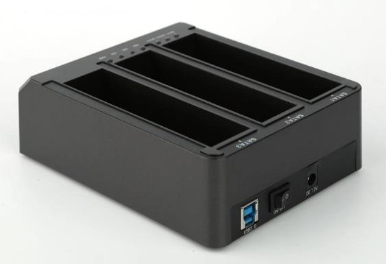 FIDECO USB3.0 FOR HDD SATA 3-BAYS DOCKING (YPZ08BS3-U3) BLK