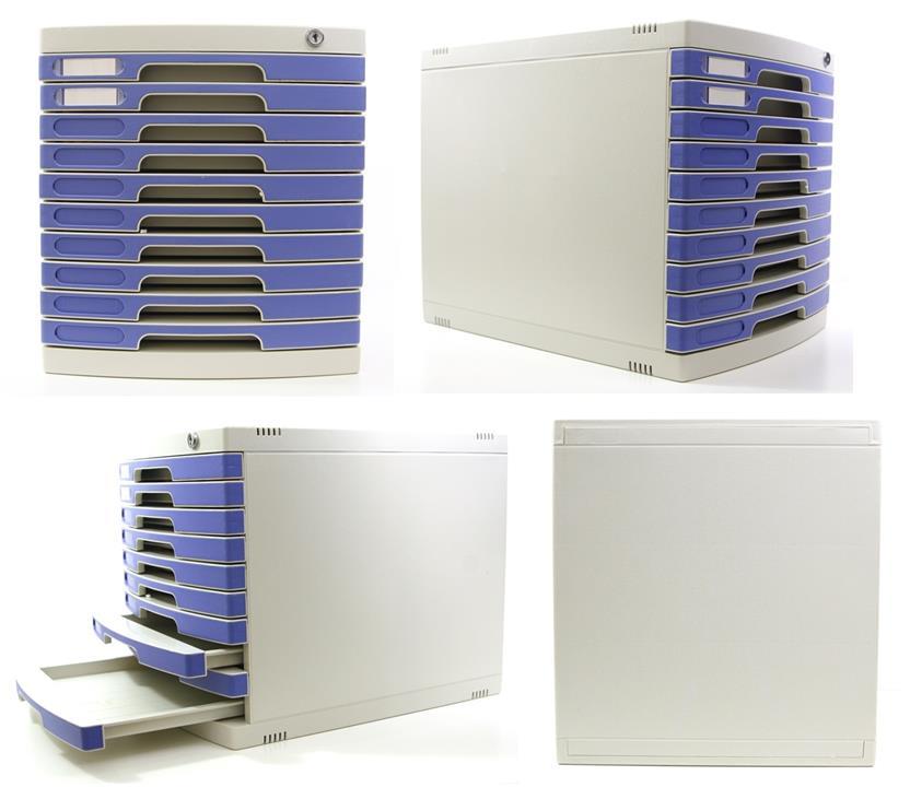 File Cabinet 10 Layers Drawers A4 Paper Rack Document Desk. U2039 U203a
