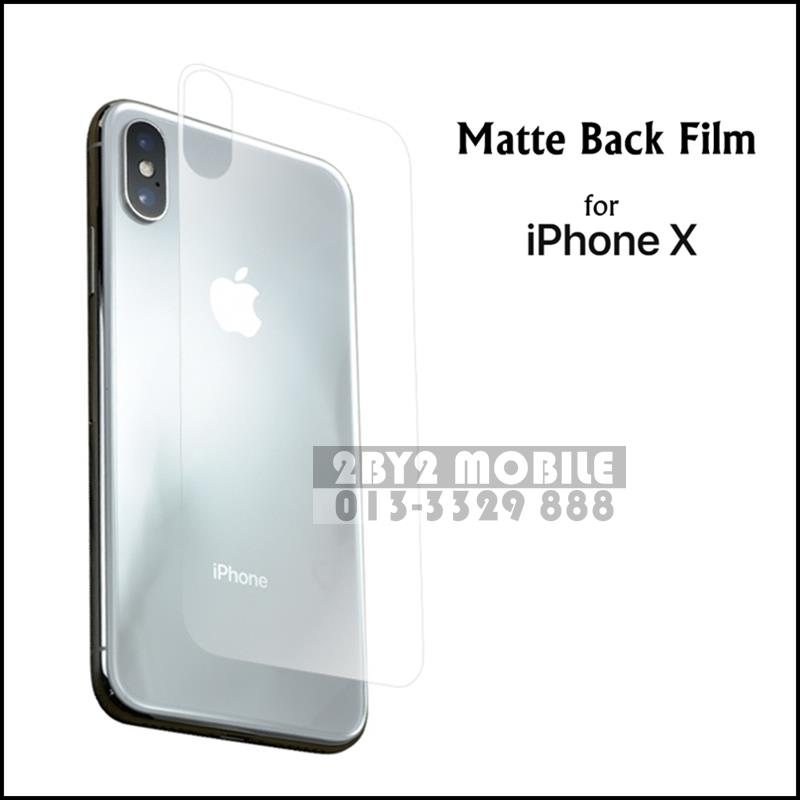 Back Film Matte Protector film iPhone X iPhoneX
