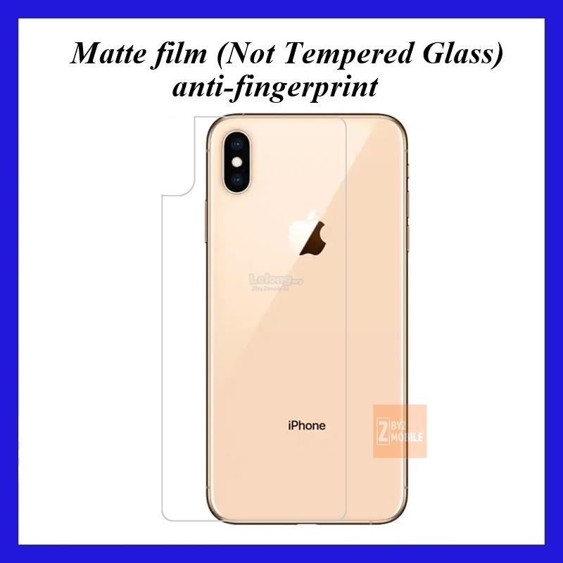 Back Film Matte Protector film iPhone Xs MAX 6.5""