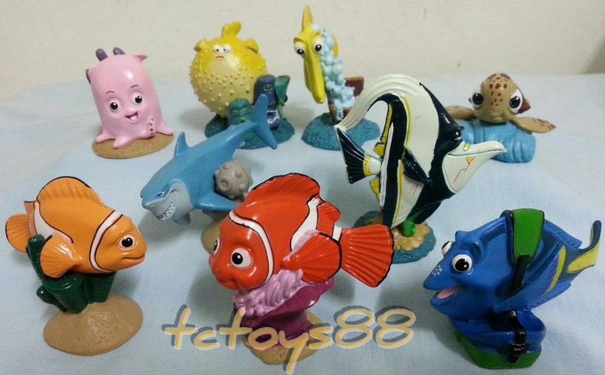 Finding Nemo. Dory. Cake Topper Figure. 9pcs set. New