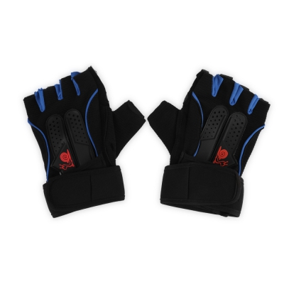 Half Finger Gloves for Gym Exercise Sports Cycling (BLUE)