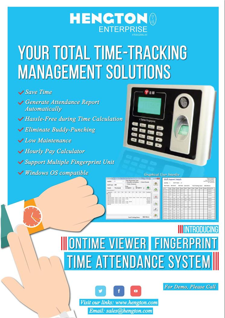 Fingerprint Punch Card Machine come with Time Attendance System