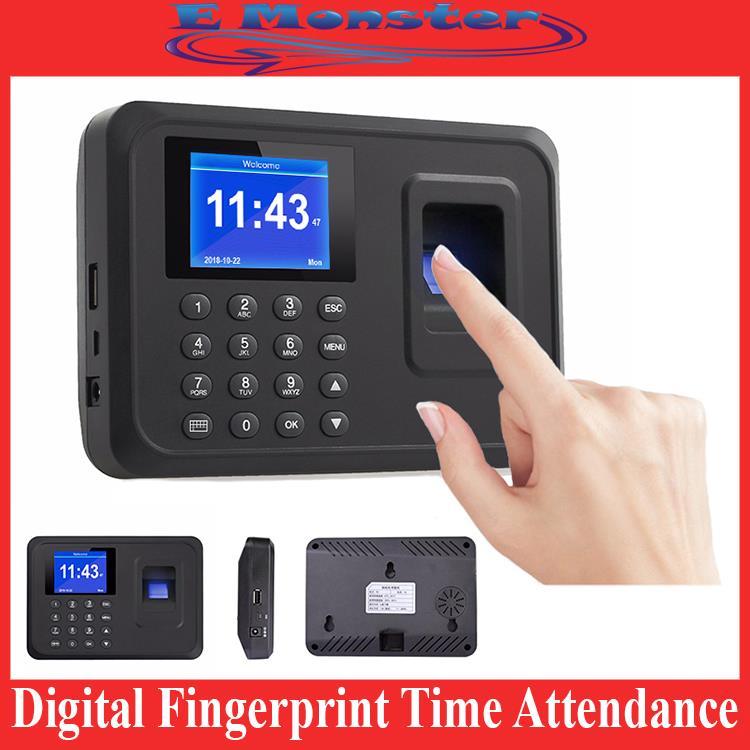 Fingerprint Time Attendance Digital Finger Print Punch Card Machine