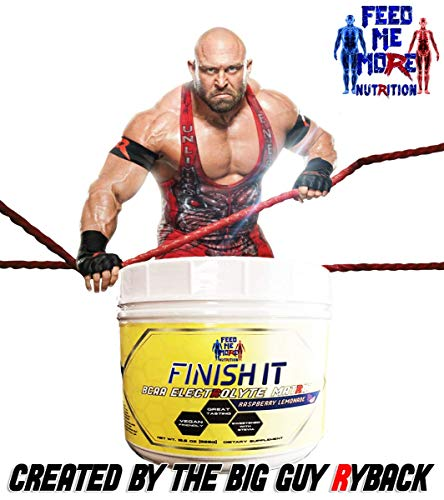 Finish It Premium Stevia BCAA Electrolyte Matrix Raspberry Lemonade #1 BCAA No