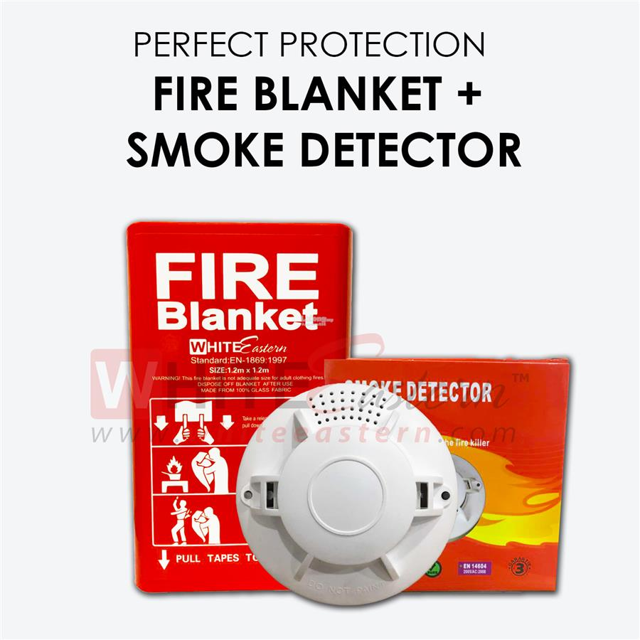 Fire Safety Package 1 (Smoke Alarm Detector + Fire Blanket )