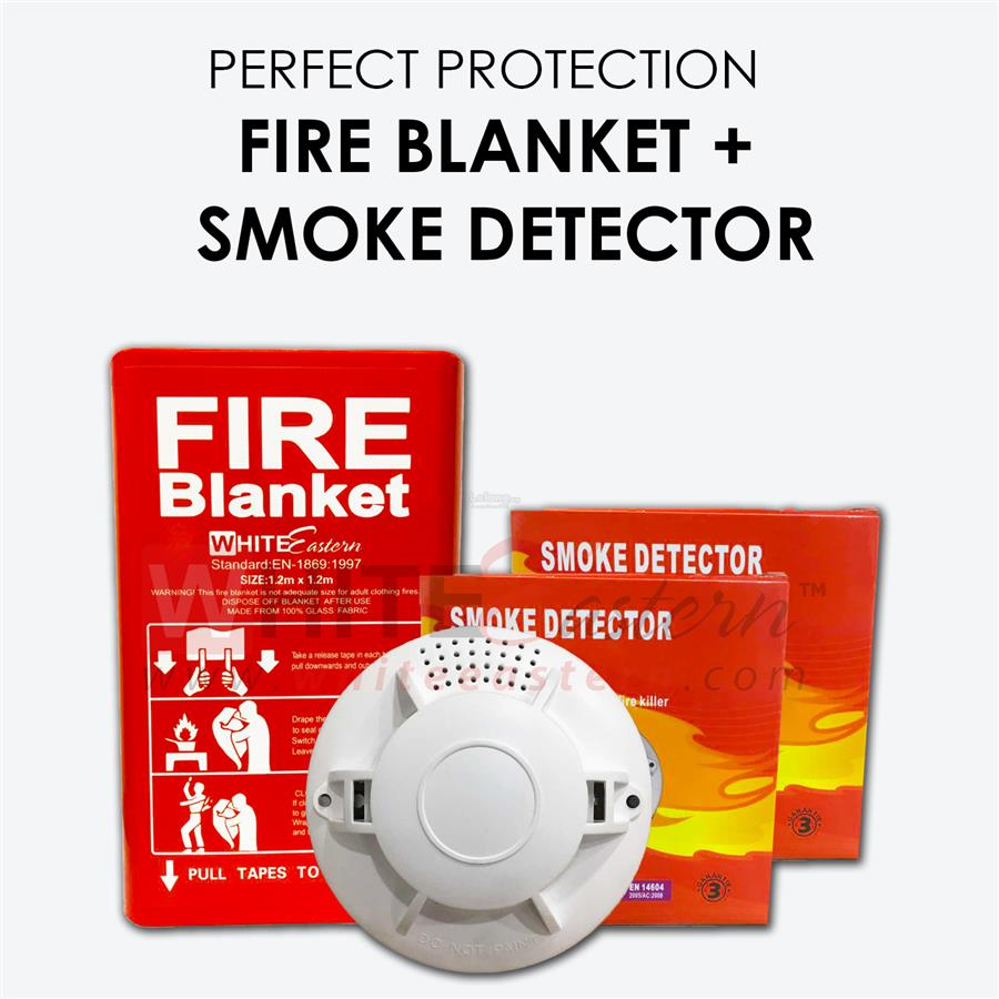 Fire Safety Package 2 ( 2xSmoke Alarm Detector + Fire Blanket)