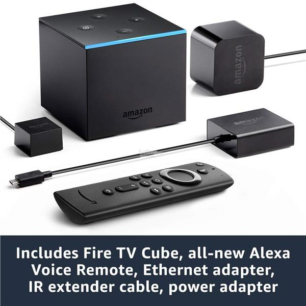 Fire TV Cube, hands-free with Alexa and 4K Ultra HD
