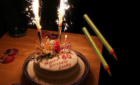 Firework Birthday Cake Sparkles Candle 6pcs