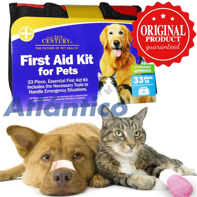 First Aid Kit for Pets, 33 Piece Kit (Dog Cat Animal Pets)