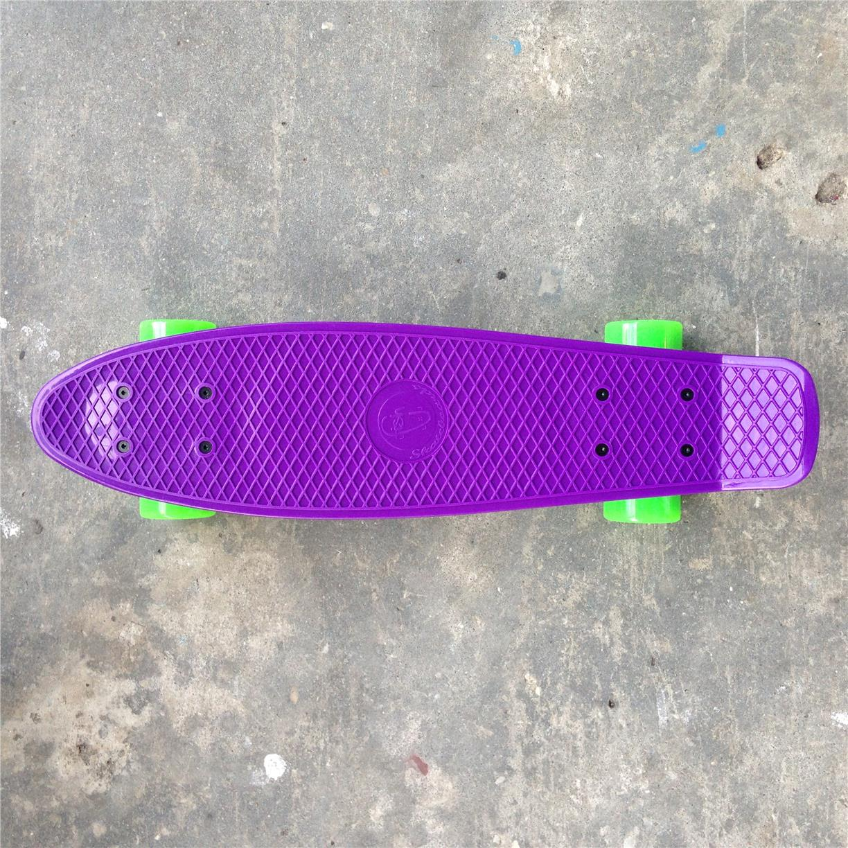 Fish 22 Penny Cruiser Skateboard Purple Green