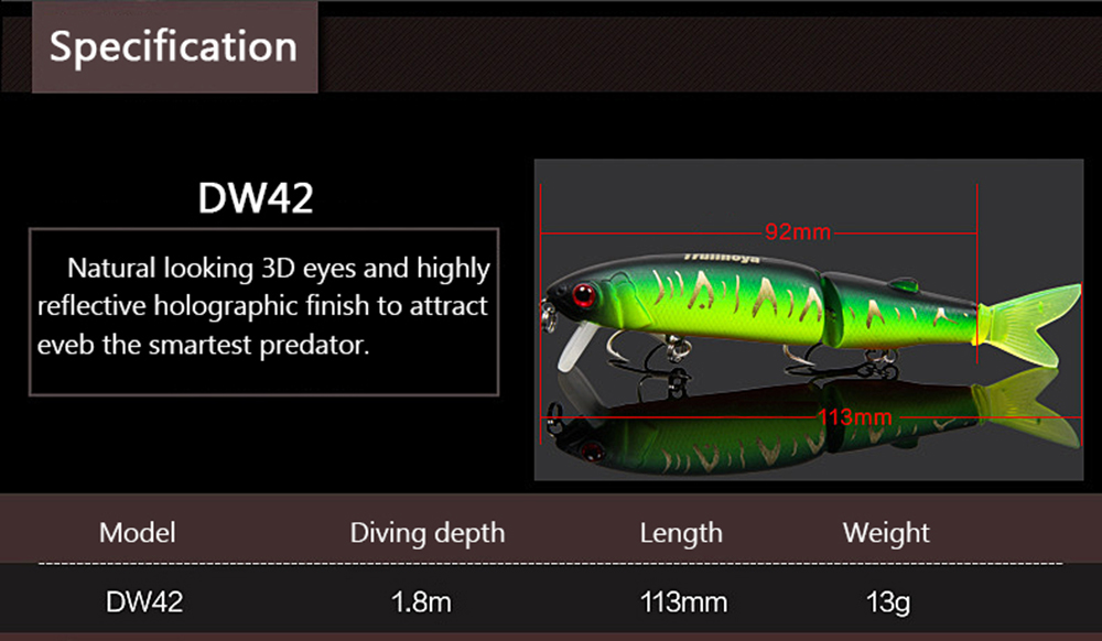 Fishing Lures - Dw42 Trulinoya Hard Fishing Lure - Dw42 113mm Trulinoy..