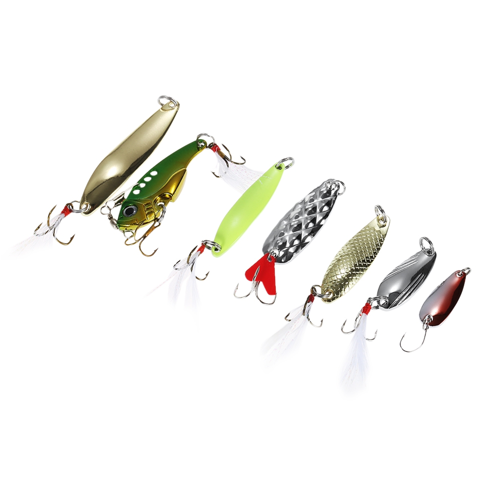 Fishing Lures - Fishing Bait Set - 19pcs Metal Hard Fishing Bait Sequi..