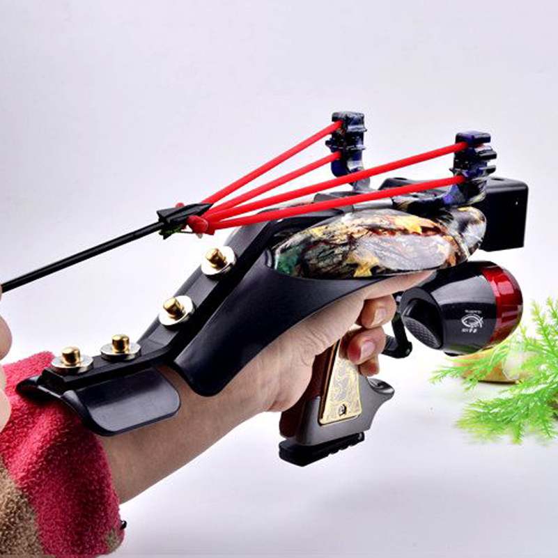 Fishing Slingshot Kit Hunting Fish Folding Professional Adjustable