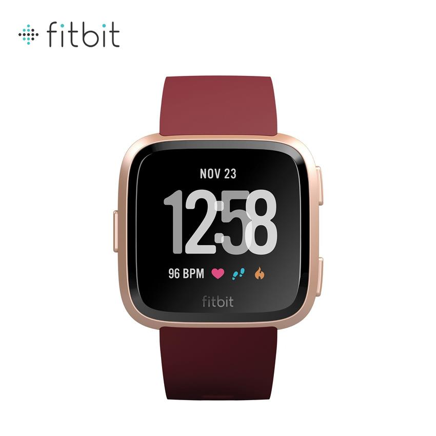 Fitbit Versa Health & Fitnes Smartwatch - Ruby/Rose Gold (FB505RGRD)