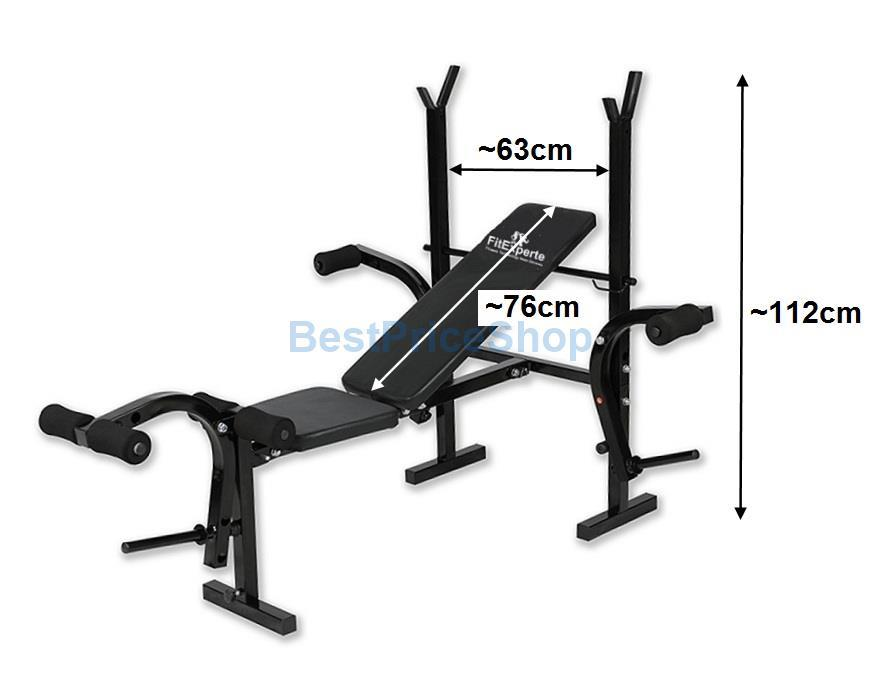 FitExpert Weight Lifting Barbell Squat Rack Dumbbell Bench Press WL100