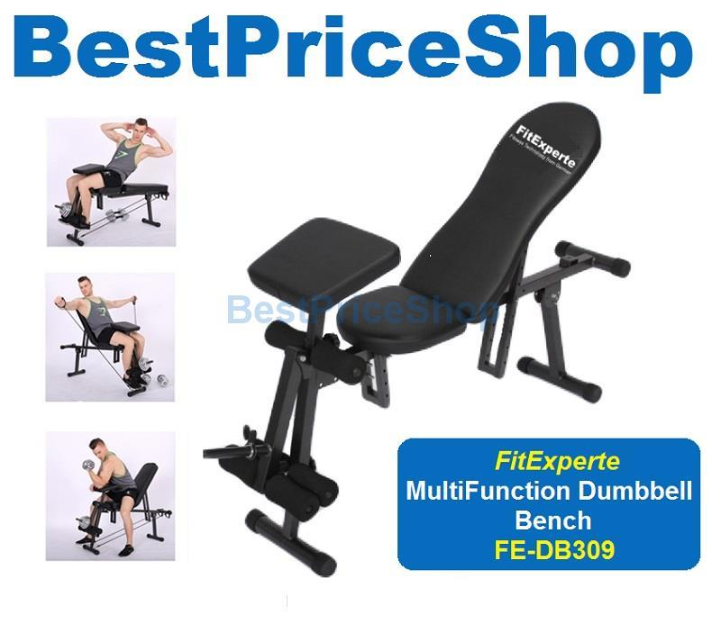 FitExperte Multifunction Dumbbell Sit Up Preacher Curl Gym FID Bench