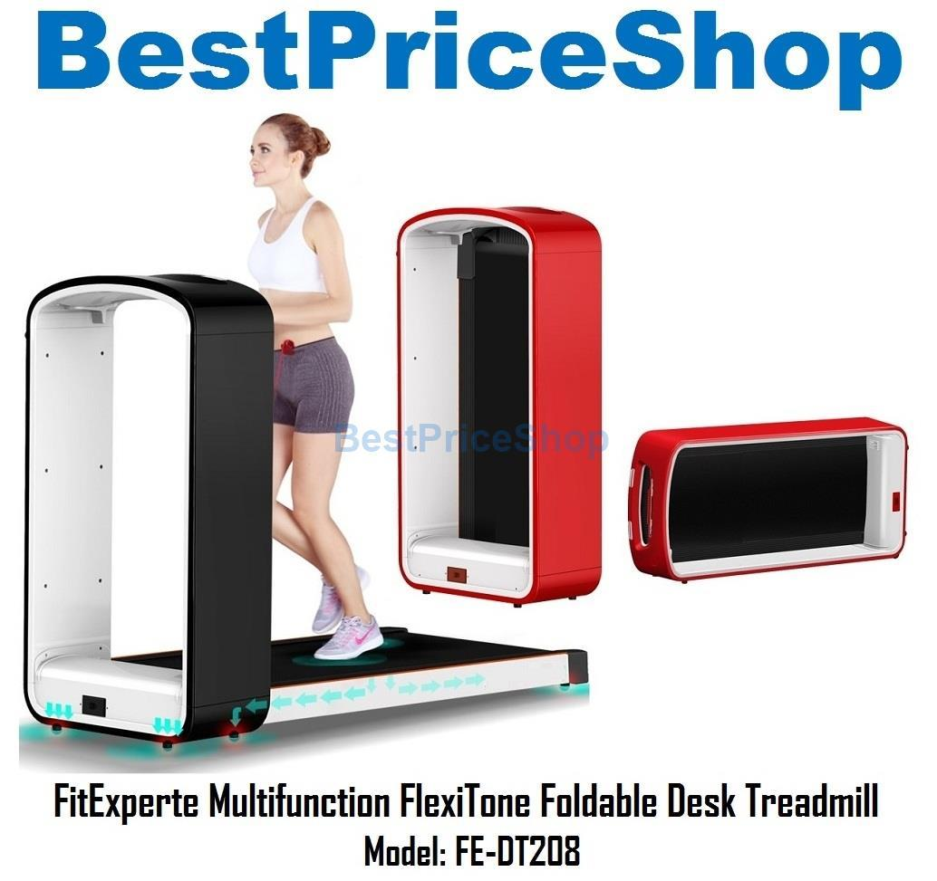 FitExperte Multifunction FlexiTone Foldable Desk Treadmill DT208 2yrs