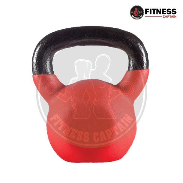 Fitness Captain Gym Workout Neoprene Kettlebell with 12kg (Color Rando