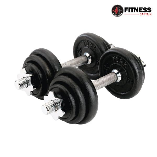 Fitness Captain Gym York 50KG Dumbbell And Barbell Combo Set