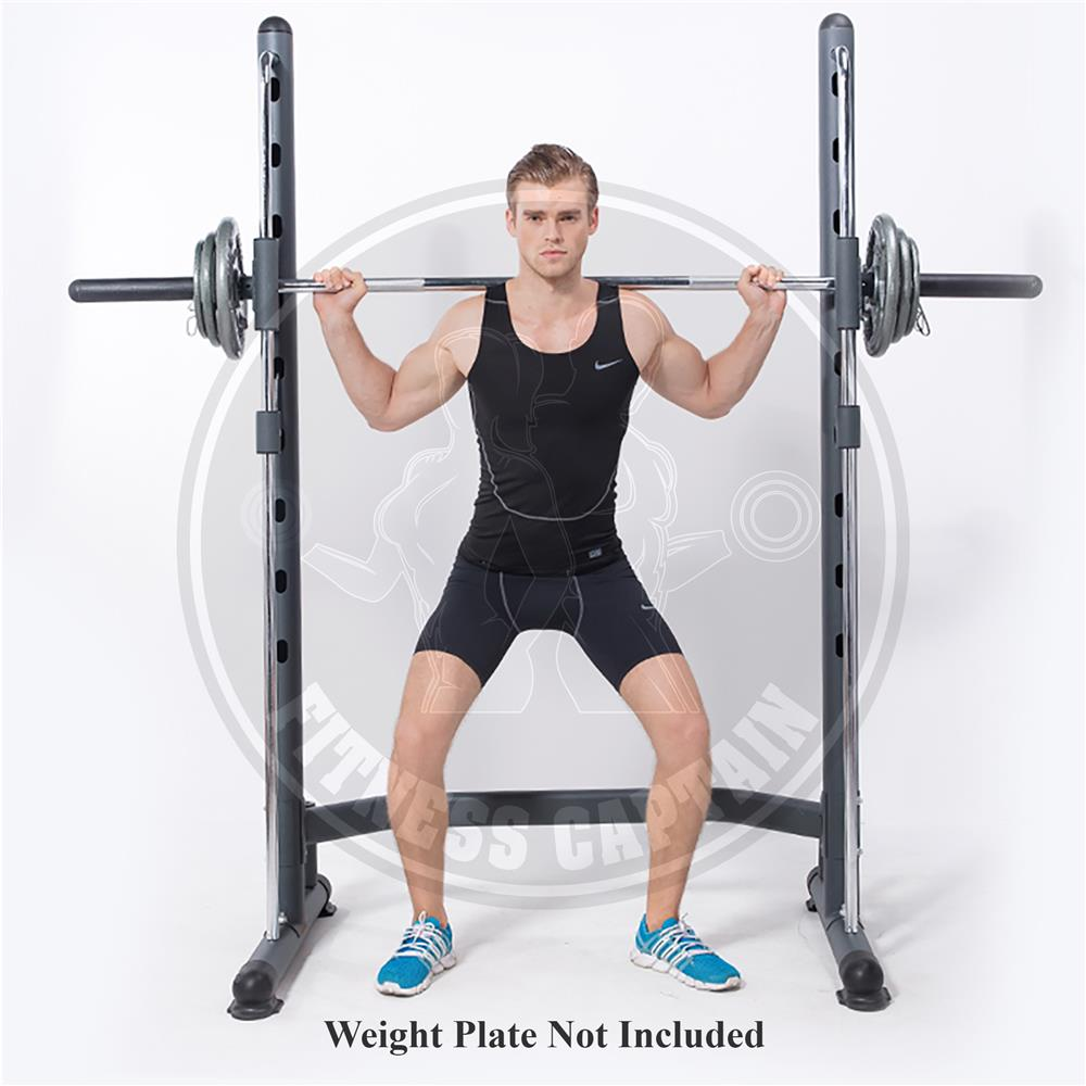 Fitness Gym Smith Machine with Olympic Barbell Squat Rack