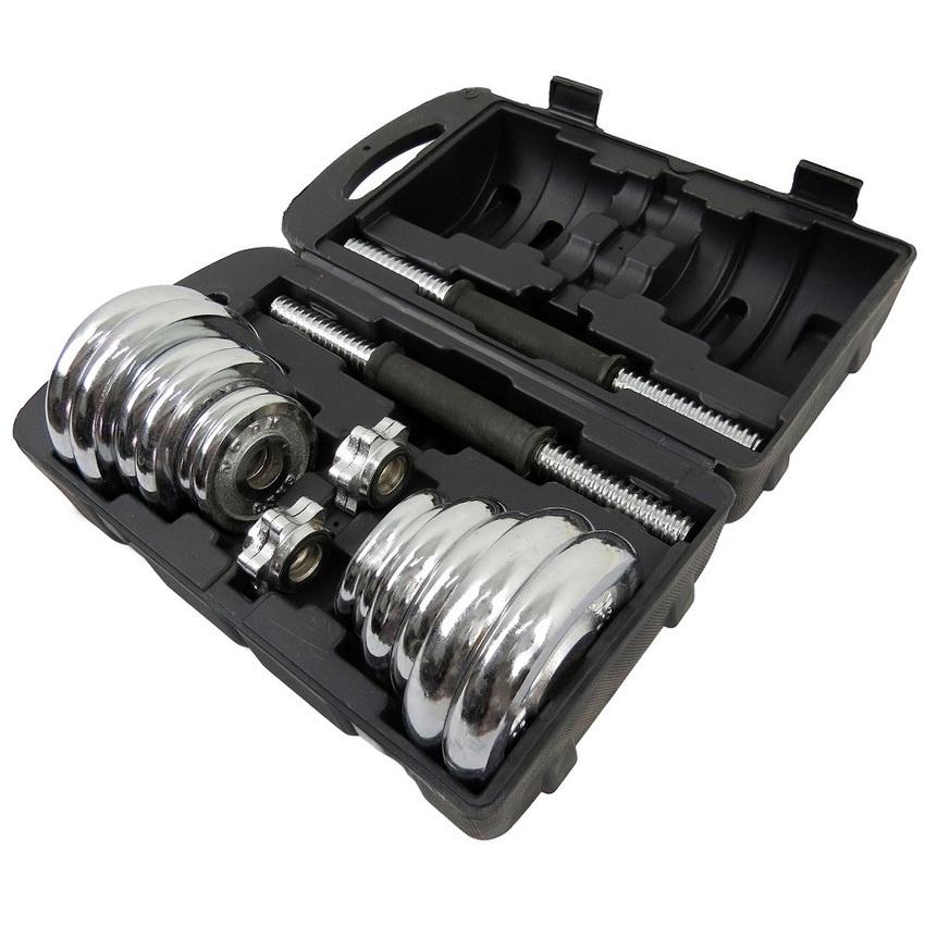 Adjustable Dumbbells Malaysia: Fitnessing 15kg Spinlock Chrome Adju (end 8/18/2020 1:57 PM
