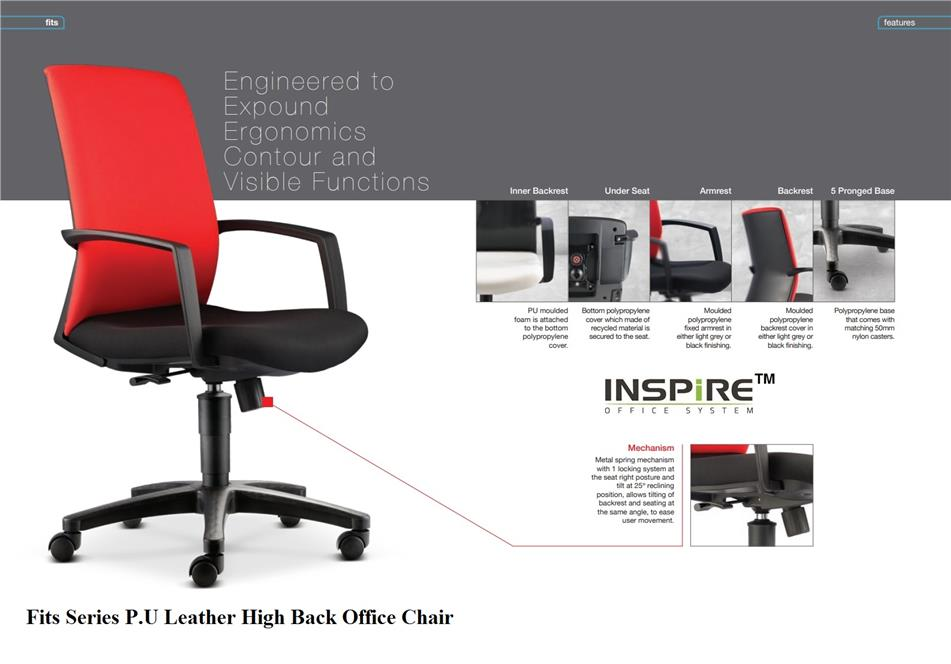Fits Series P.U Leather High Back Office Chair