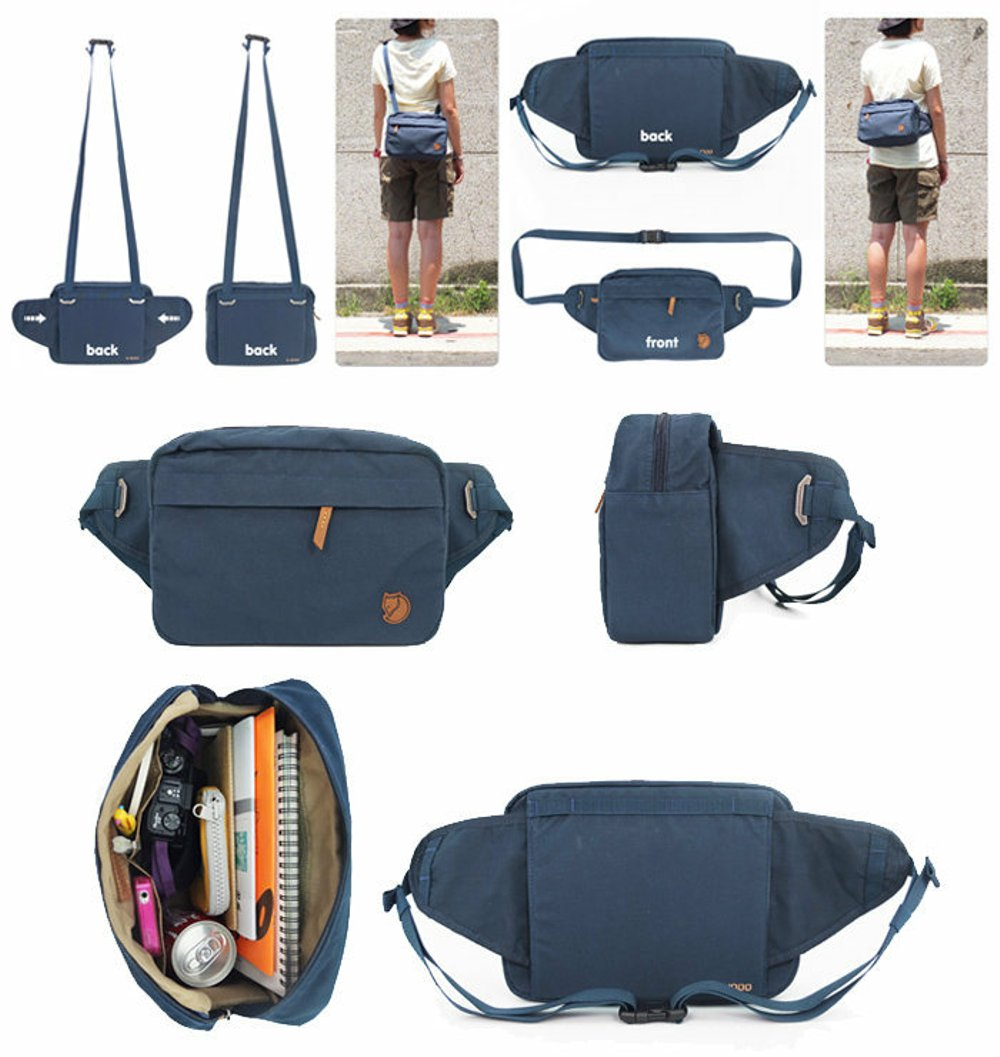 available outlet more photos Fjallraven Genuine Leather Men Women 2in1 Hip Gear Sling Waist Bag Beg
