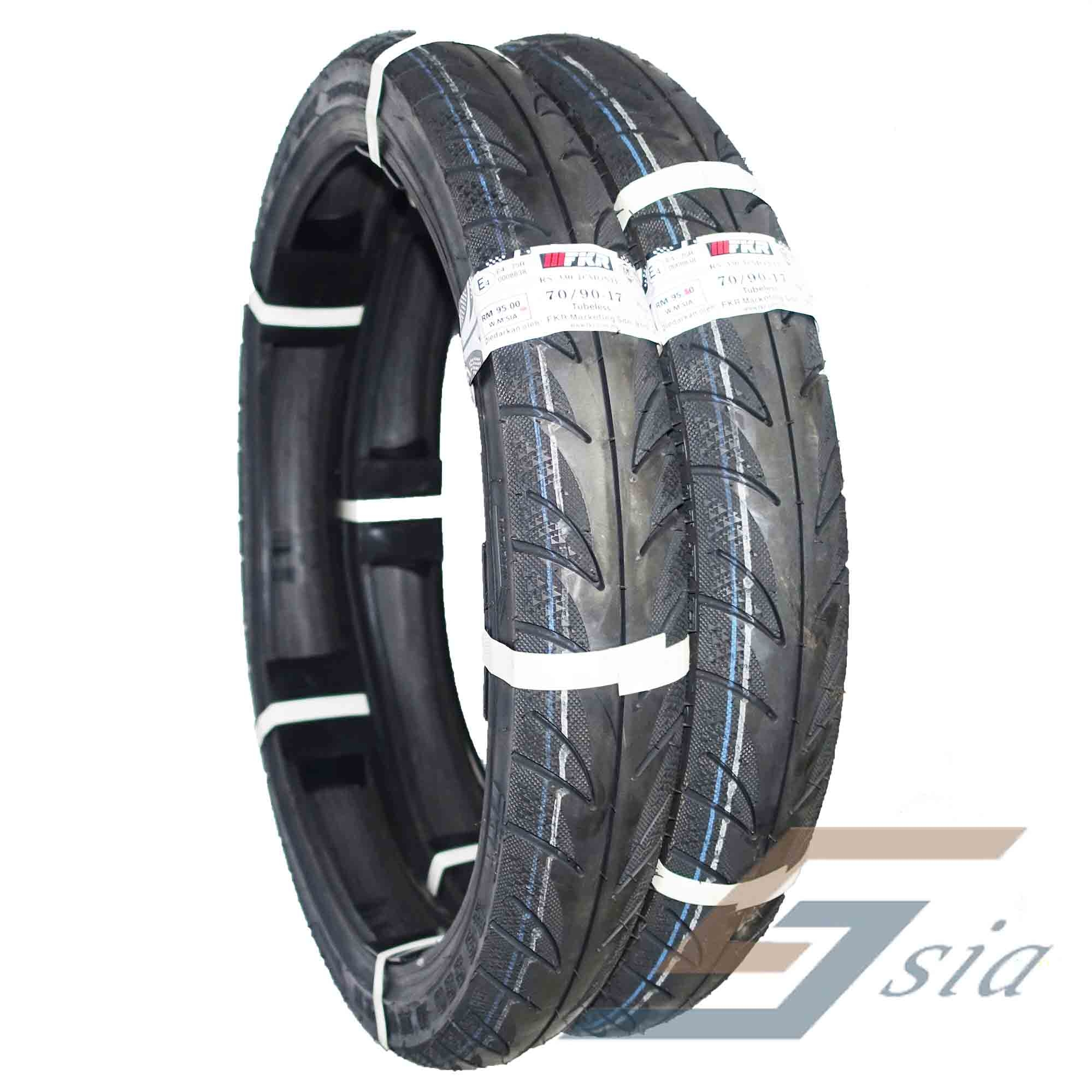 FKR RS330 D''MONTE 70/90-17 Tubesless Tyre Motorcycle (2 pcs)
