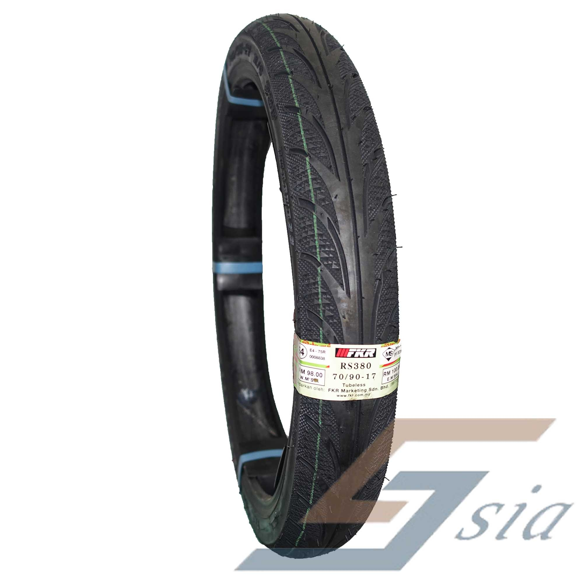 FKR RS380 D''MONTE 70/90-17 Tubesless Tyre Motorcycle