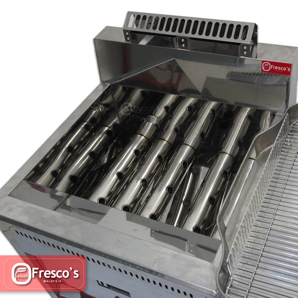 Flame Deep Fryer Commercial Fire Gas Cooking Catering Stainless Steel