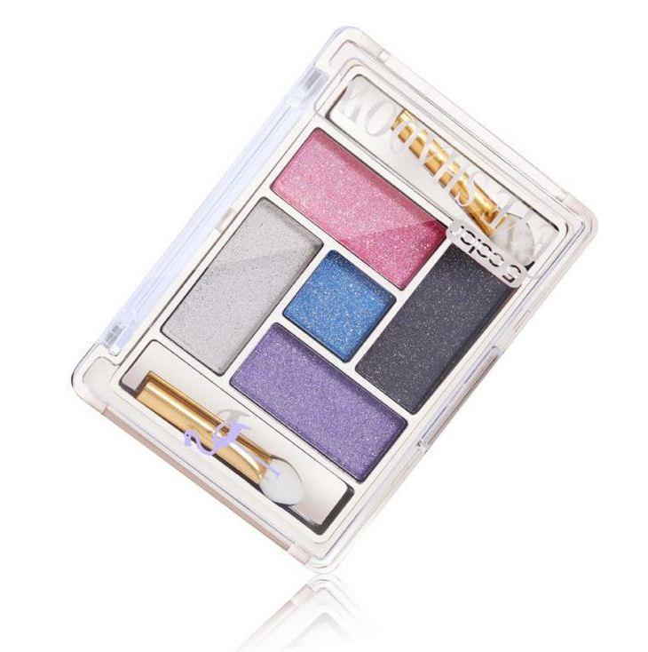 Flamingo~Square Shape 5 Color Diamond Eyeshadow Set