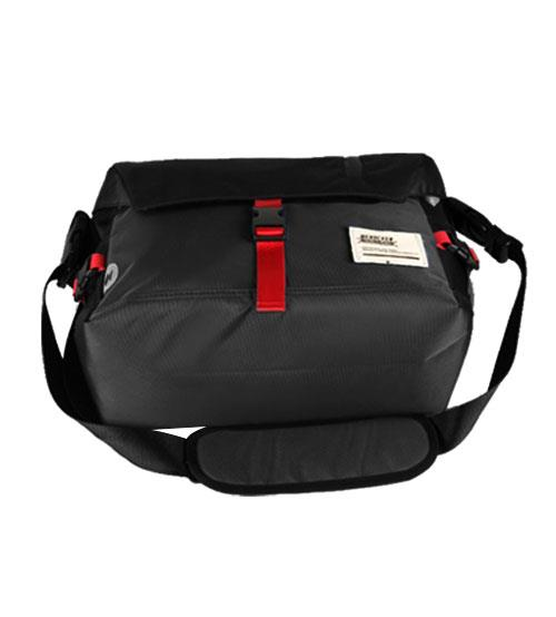 Flash Messenger Sling Bag Shoulder Outdoor Casual Backpack Bag (Black)