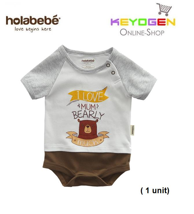 c27243113445c ( flash sale )Holabebe Baby Romper I Love Mum Bearly Much R612