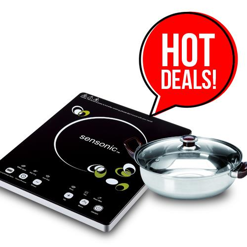 Flash Sales:: Sensonic Induction Cooker IC2000 with Free Cooking Pot
