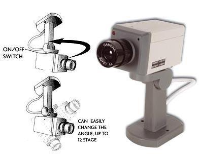 Flashing LED Dummy CCTV Camera (with Motion Detection)
