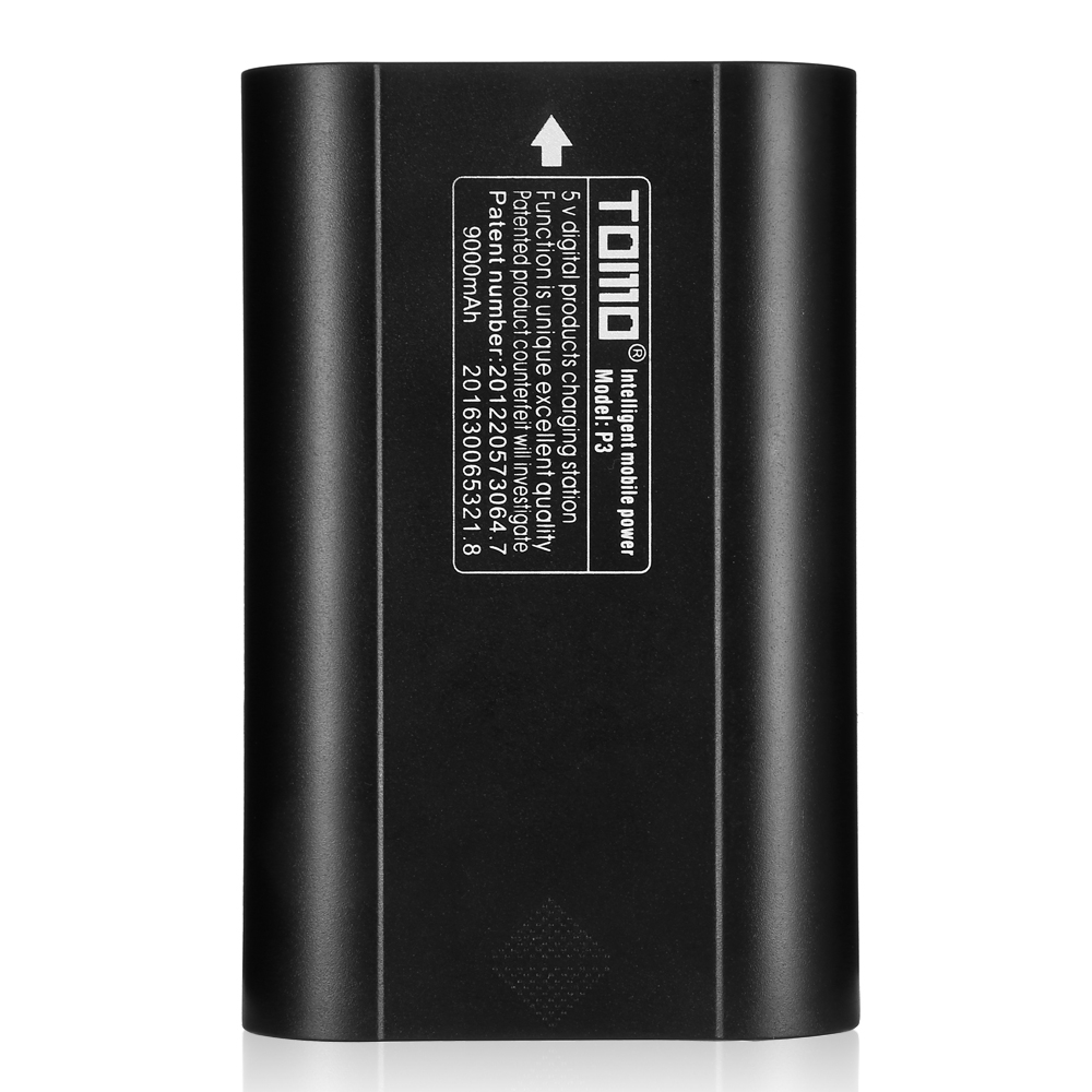 Flashlight Battery Chargers - Charging Case - TOMO P3 Power Bank Dual ..