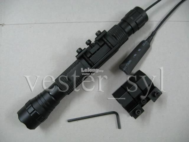 Flashlight/Laser  20mm Rail Type Gun Mount